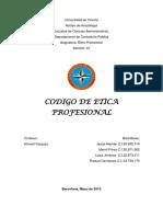 Analisis Del Codigo de Etica Profesional