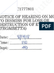 Motion to Dismiss for Loss or Destruction of Evidence (Trombetta) Filed July 5, 2018 by Defendant Susan Bassi