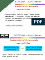 ECONOMIA Micro e Macro - Tipos de Bens e Elasticidade