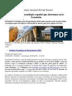 El Gran Centro Tecnológico Español Que Abortamos en La Transición