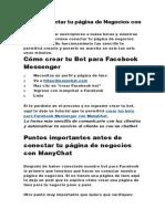 Cómo Conectar Tu Página de Negocios Con ManyChat
