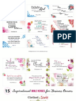 Bible Verses Business Owners Printables