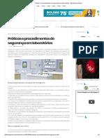 Práticas e Procedimentos de Segurança Em Laboratórios - Biomedicina Brasil