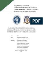 Plan Estratégico de Tecnologías de La Información en La Facultad de Ingenieria de Sistemas de La Untrm
