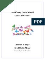 Informe Al Hogar Medio Menor 2018