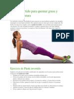 Plank Invertido Para Quemar Grasa y Mejorar Postura