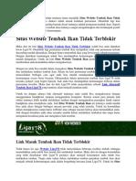 Situs Website Tembak Ikan Tidak Terblokir