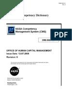CMS-DOC-01 Rev6 NASA Competency Dictionary