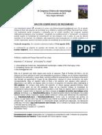 Información sobre envío de resúmenes IX Congreso Chileno de Herpetología