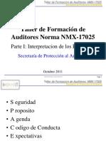 Parte I Auditores Internos NMX-17025 OCT2011