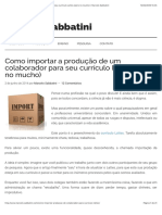 Como importar a produção de um colaborador para seu currículo Lattes (pero no mucho) | Marcelo Sabbatini