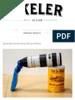 Game Boy Camera Canon EF Mount — Bastiaan Ekeler