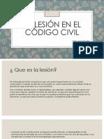 La lesión en el código civil
