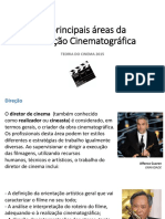 As Principais Áreas Da Produção Cinematográfica
