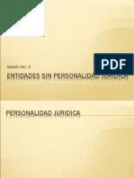 Entidades Sin Personalidad Jurídica