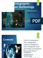 Finshededslide3d Holographic Projection Technology PPT Copy
