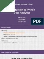 20170605 Dsi - Intro to Python Data Analytics Kpl