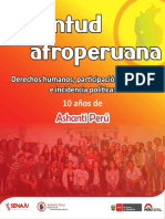 SENAJU -ASHANTI-JUVENTUD AFRO PERUANA.