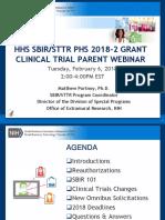 FY18 HHS SBIR-STTR Grant Omnibus Clinical Trial Webinar 2.6.18