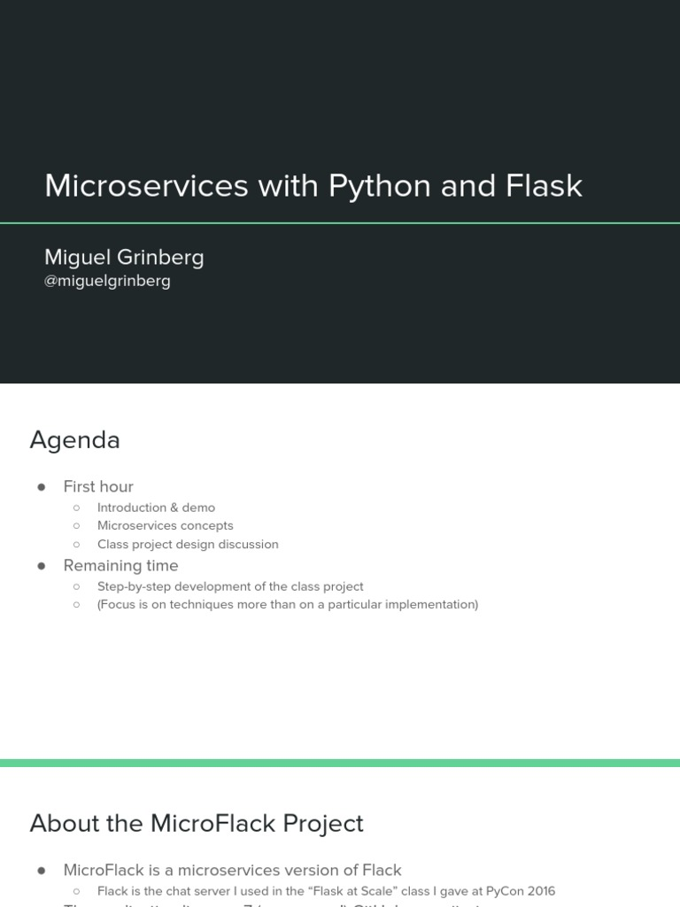 Microservices With Python and Flask | Hypertext Transfer