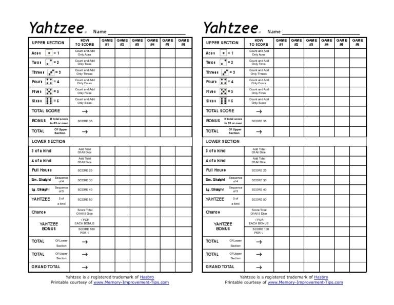 graphic relating to Printable Yahtzee Score Sheets Pdf titled yahtzee-rating-sheets.pdf Employed Prospect Movie Game titles