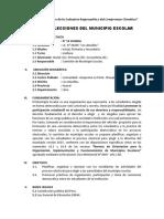 Plan y Reglamento MUNICIPIO ESCOLAR