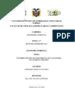 Contribución Del Sector Forestal Ecuador