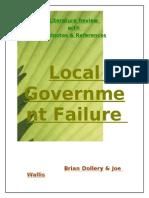 Local Government Failure