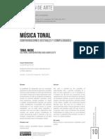 Música tonal. Configuraciones gestuales y complejidades