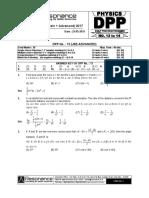 Class XI Physics DPP Set (05) - Mathematical Tools & Kinematics.pdf