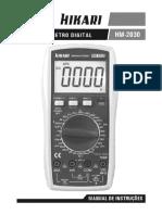 Manual Multimetro Digital Hm 2030