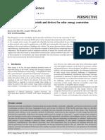 Semiconducting 8 Solar Energy