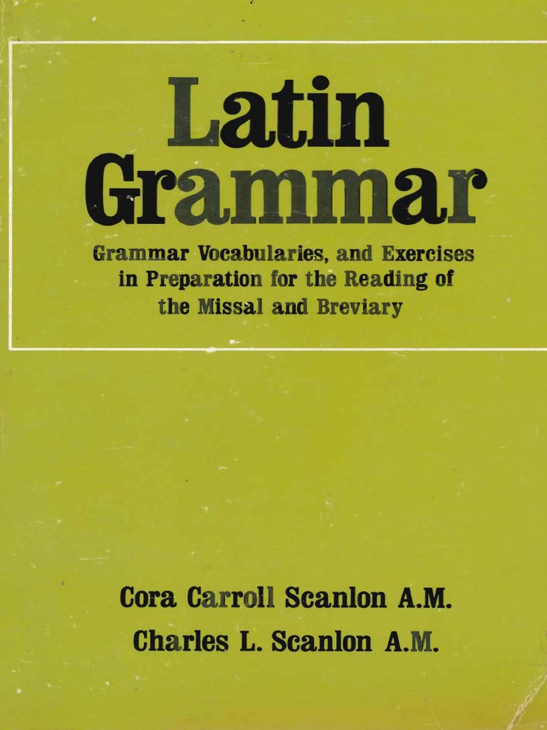 Scanlonslatingrammarcompletepdf Grammatical Gender