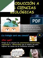 Semana 1- i Bim - Introducción a Las Ciencias Biológicas