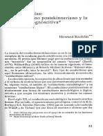 Condusticmo Postskinneriano y Psicología Cognoscitiva