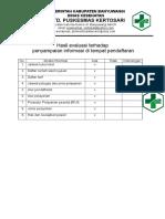 7.1.2.2 Hasil evaluasi penyampaian informasi di tempat pendaftran copy.doc