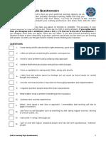 Kolb Questionnaire