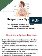 Kuliah 3 Respirasi + cardiovasculer