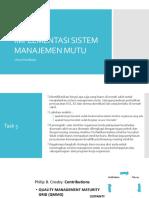 Strategi Implementasi Sistem Manajemen Mutu