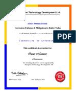 ETD Training (Corrosion in Boilers)