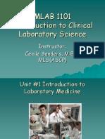 Unit1Intro to Laboratory Medicine