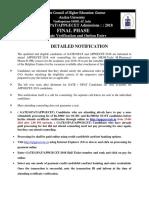Gate Gp at Pge Cet Final Notification