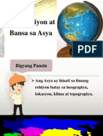 Mga Rehiyon at Bansa Sa Asya (Aralin 2- Grade 7)