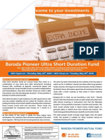 Baroda Pioneer Ultra Short Duration Fund - NFO