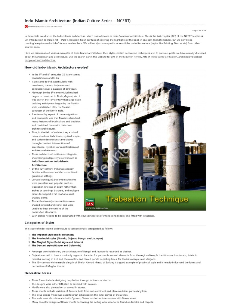 17 indo islamic architecture indian culture series ncert pdf