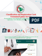 Classification & Registration card extension/update service - SCFHS