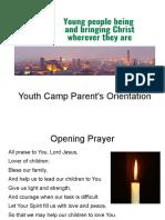YCamp Parents Orientation