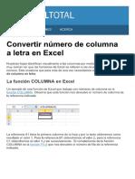 Convertir Numero de Columna a Letra