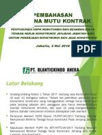 Presentasi Rencana Mutu Kontrak