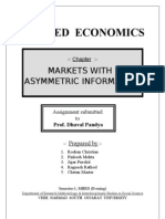 Economics - Markets With Asymmetric Information